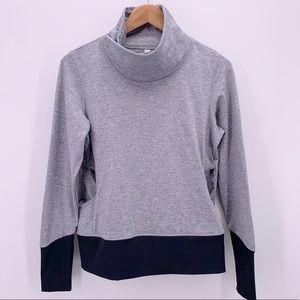Lucy Athletic Pull Over Sweat Shirt Mock Neck Med